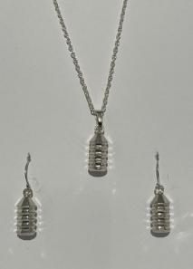 Pakati (Chevron) Necklace and Earrings